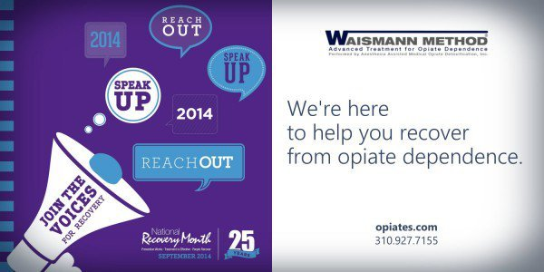 National recovery month promotion with waismann method