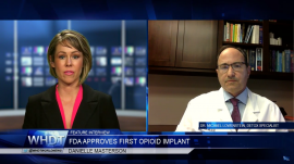 WHDT Interview with Dr Lowenstein on FDA Approval of First Opioid Implant