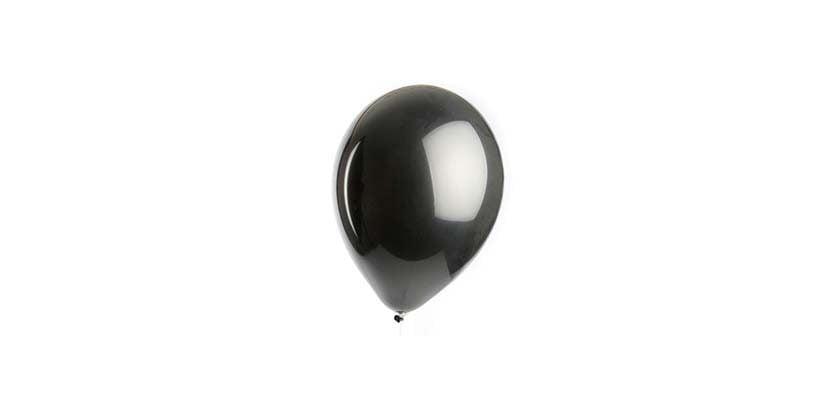 Black balloon on white balloon. References an opioid overdose prevention movement called black balloon day